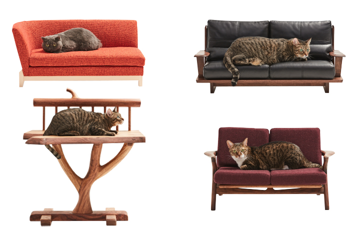 japanese miniature furniture cats