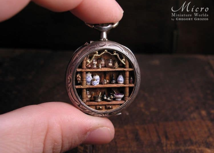 jars and bottles miniature worlds inside pocket watches and pendants