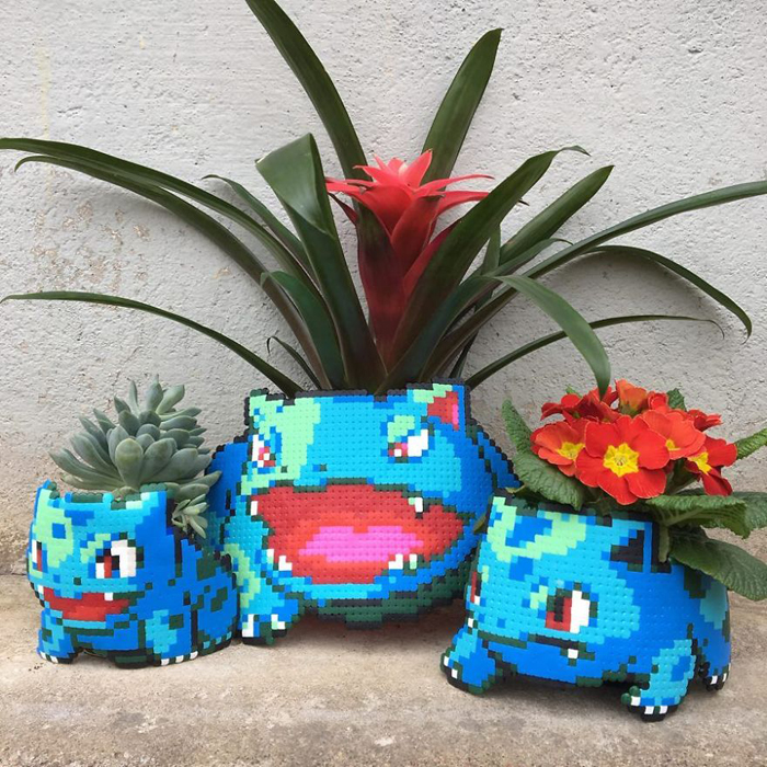 johan karlgren stunning pixel art bulbasaurs