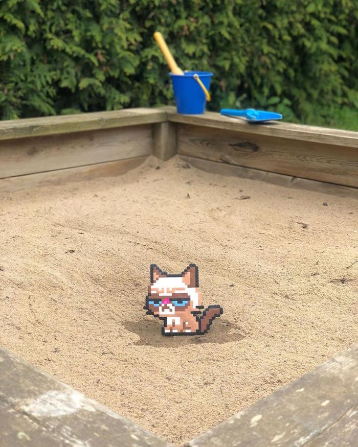 johan karlgren stunning pixel art grumpy cat