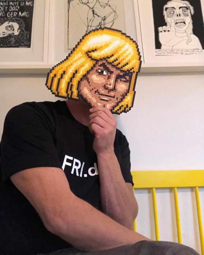 johan karlgren stunning pixel art he-man