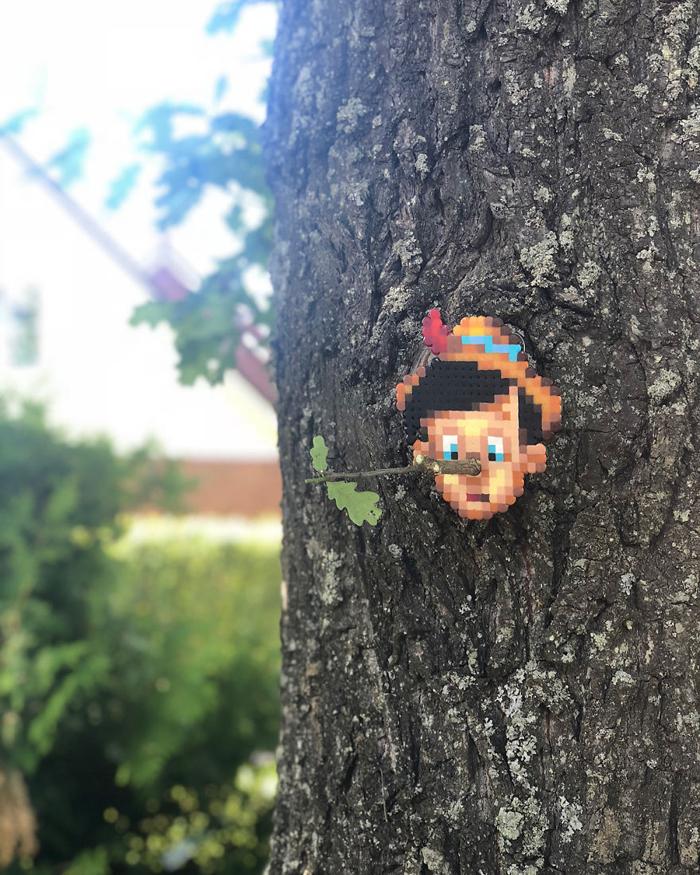 johan karlgren stunning pixel art pinocchio