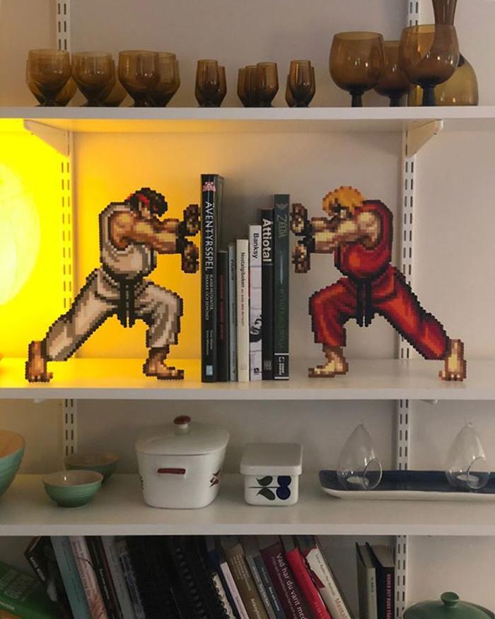 johan karlgren stunning pixel art street fighter retro