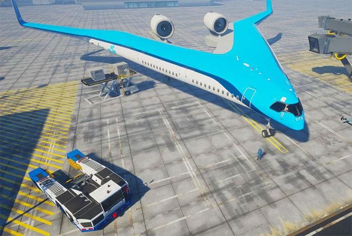 justus benad flying-v airliner prototype