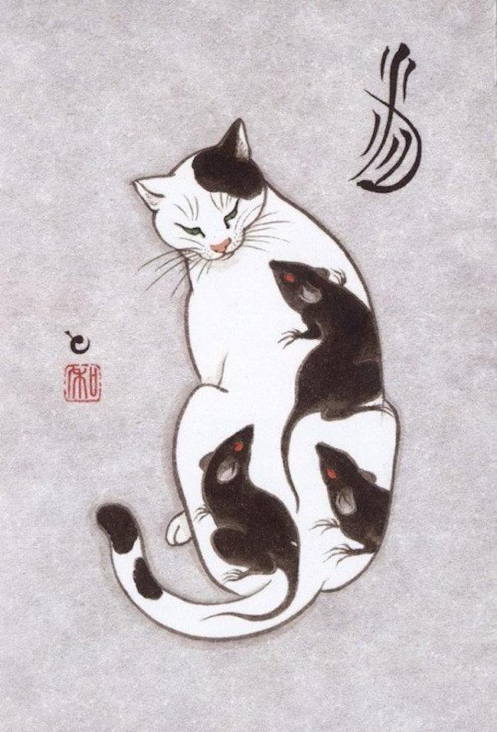 kazuaki horitomo monmon cats rat tattoos