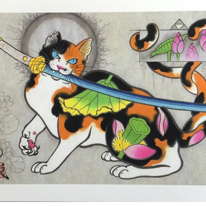 kazuaki horitomo monmon cats sword