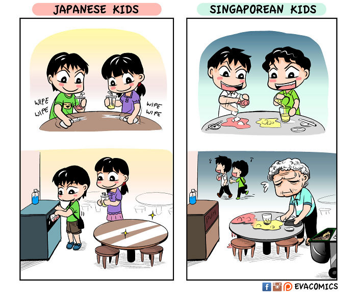 kids after eating comics japan cultural differences by evacomics