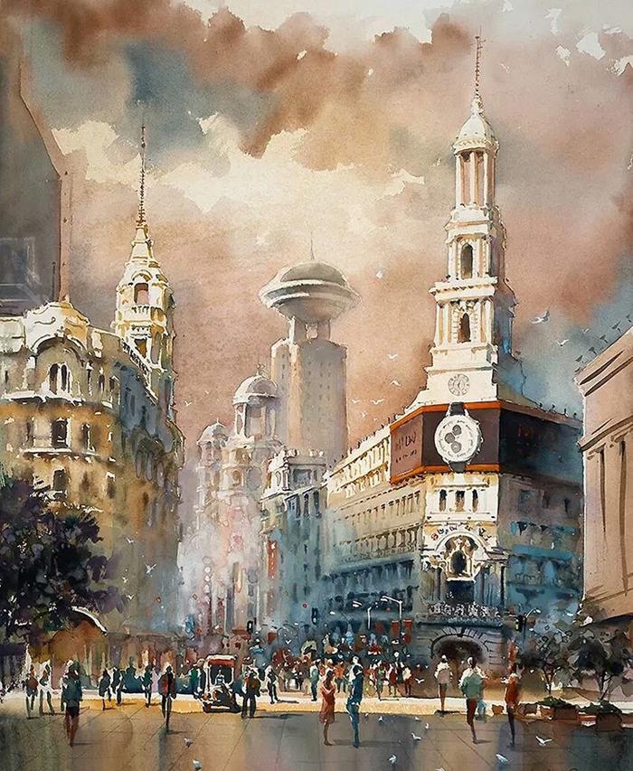 kwan yeuk pang spectacular watercolor paintings