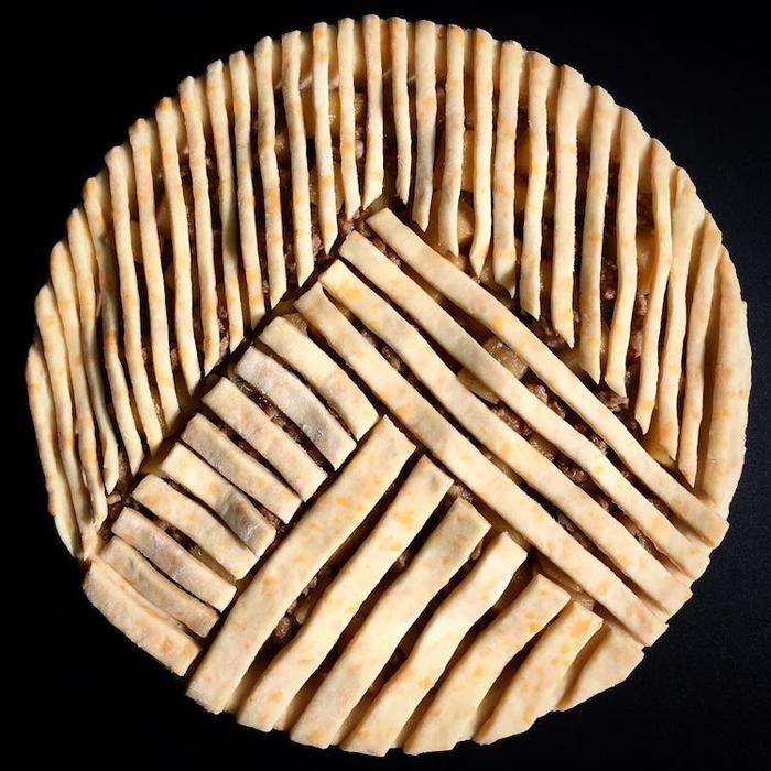 lauren ko art pies dough strips variations