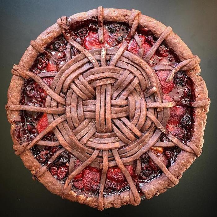 lauren ko art pies dough strips weaves