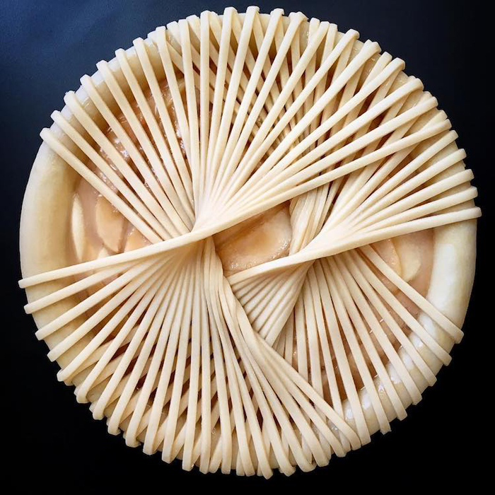 lauren ko art pies weaving dough strips