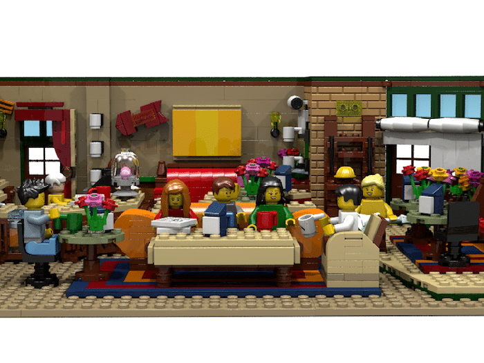 lego friends central perk coffee shop set
