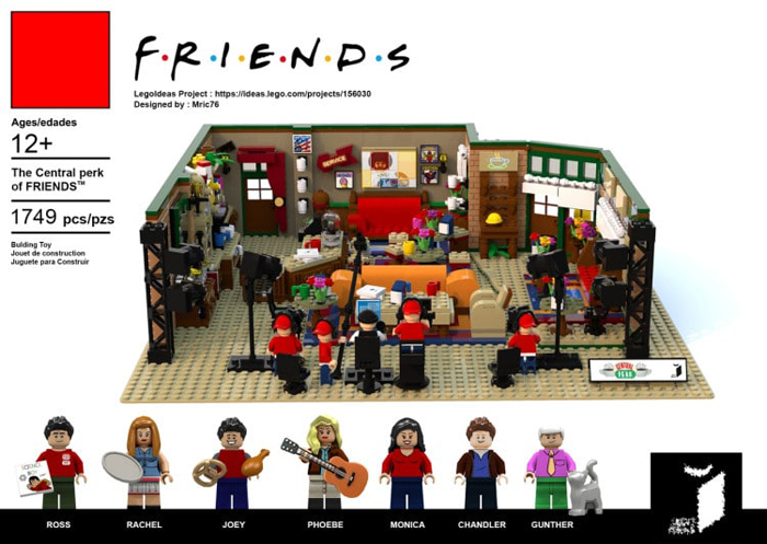 lego friends central perk coffee shop