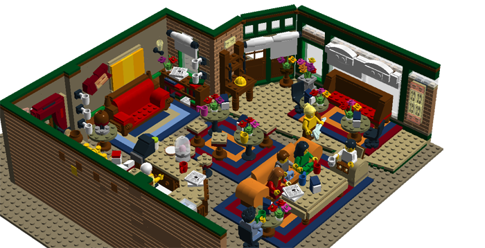 lego ideas central perk coffee shop friends