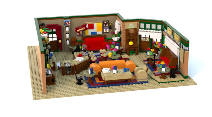 lego ideas central perk coffee shop replica