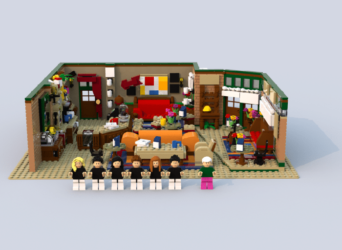 lego ideas central perk coffee shop set