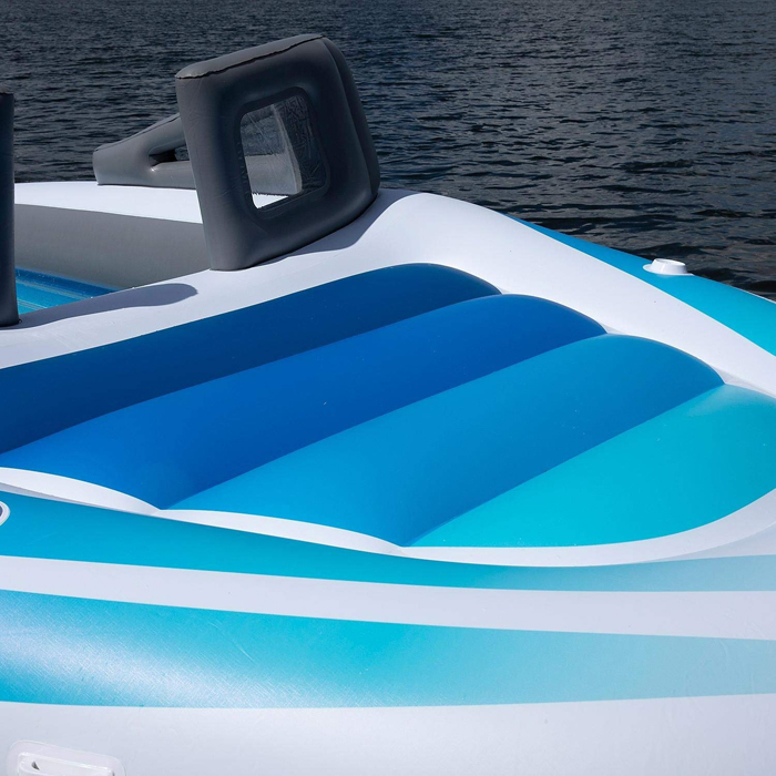 life-size inflatable speedboat lounger