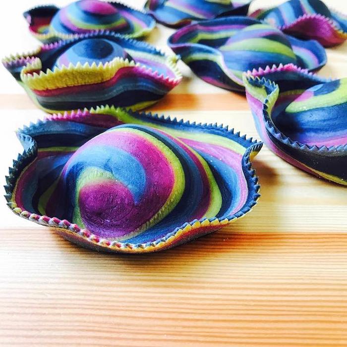 linda nicholson colorful pasta ravioli sombrero