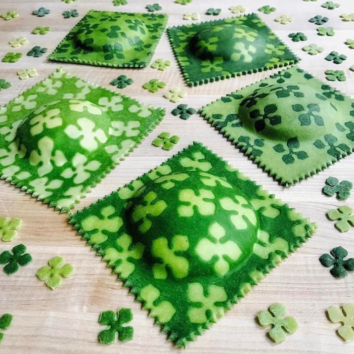 linda nicholson plant-dyed pasta green ravioli