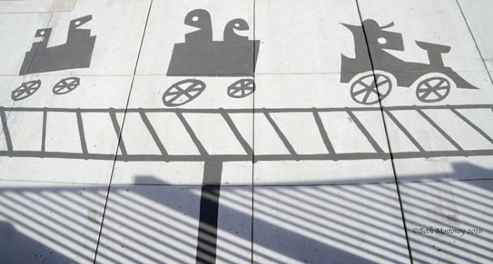 little trains shadow art damon belanger