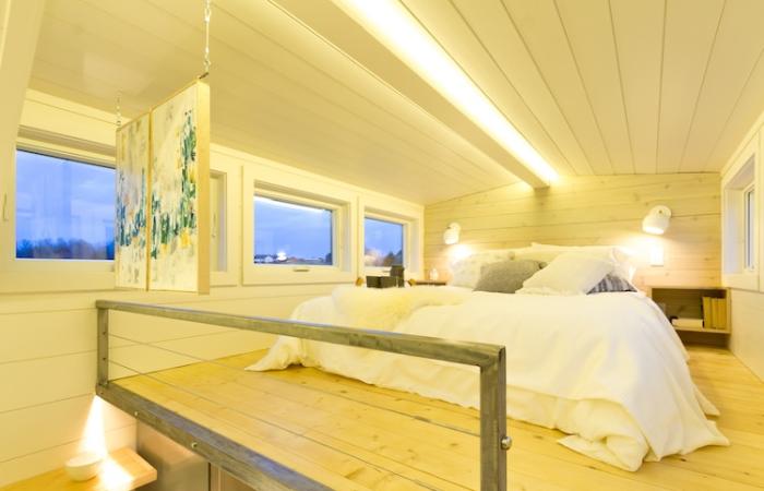 loft bedroom at olive nest tiny home elsa