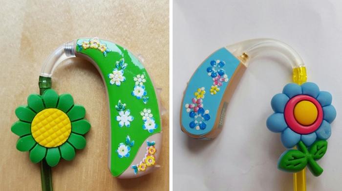 lugs decorative hearing aids flower designs