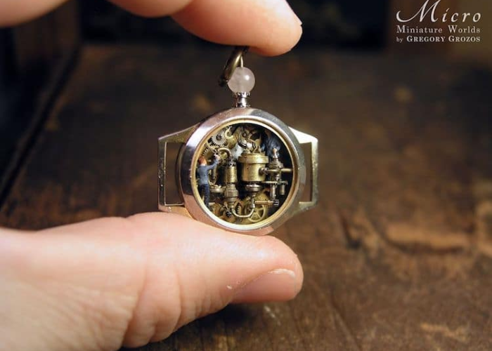 machinery miniature worlds inside pocket watches and pendants