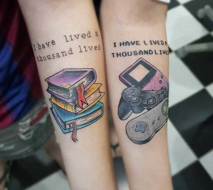 matching tattoos books gadgets