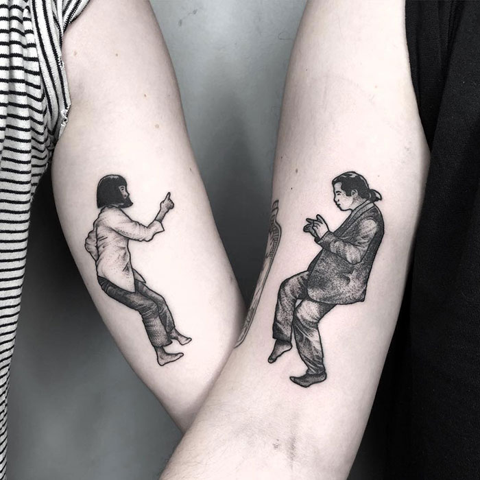 matching tattoos pulp fiction