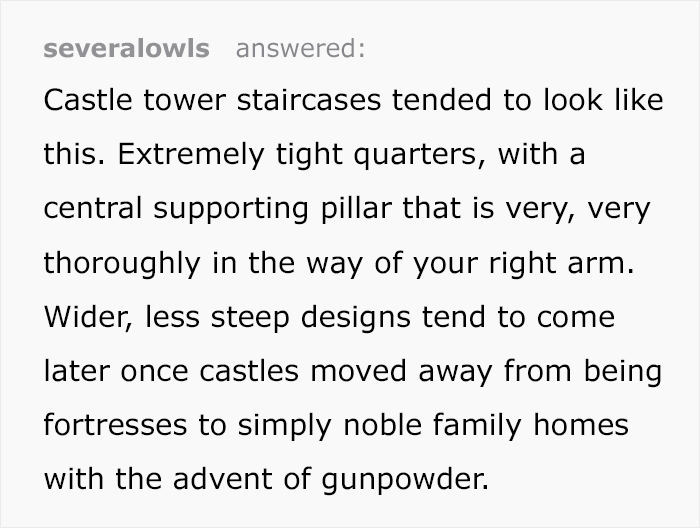 medieval castles spiral staircases tumblr thread severalowls