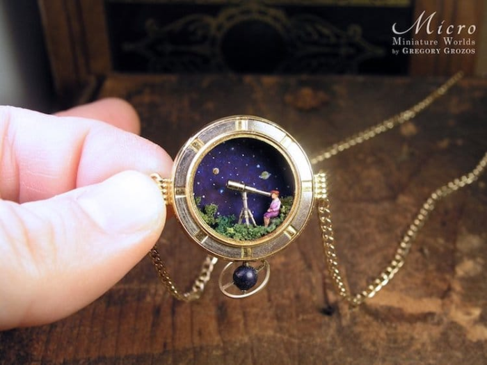 miniature worlds inside pocket watches and pendants astronomy