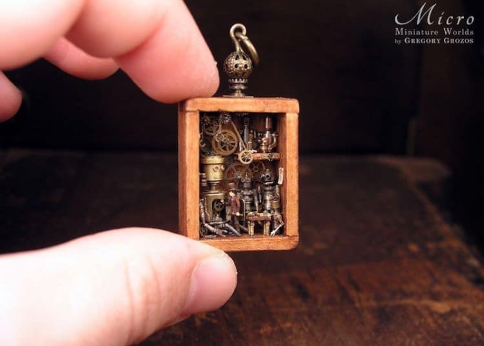 miniature worlds inside pocket watches and pendants gears