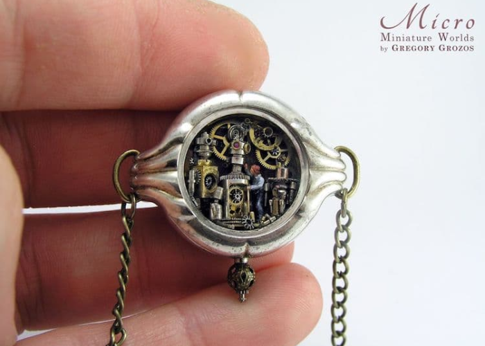miniature worlds inside pocket watches and pendants inventor