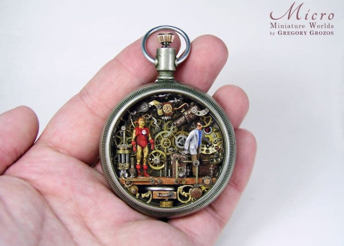 miniature worlds inside pocket watches and pendants machinery