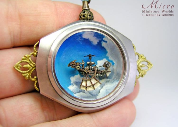miniature worlds inside pocket watches and pendants ship