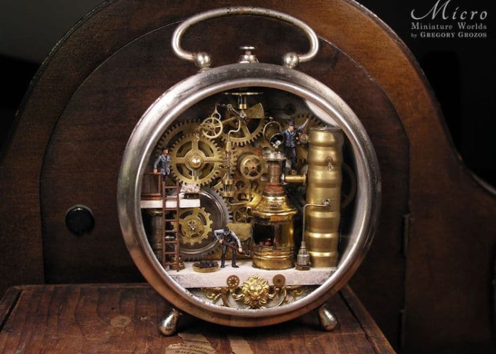 miniature worlds inside pocket watches and pendants working men