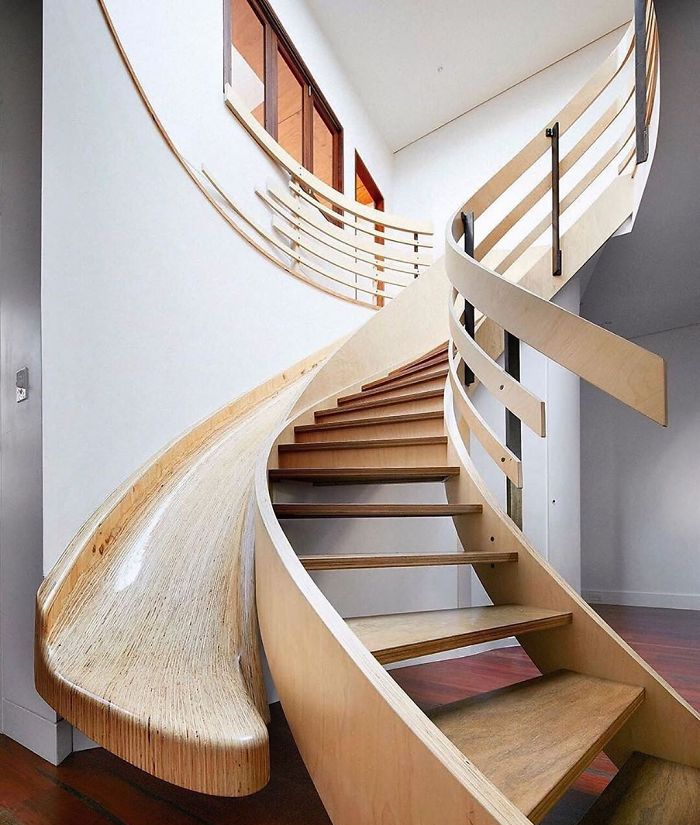 modern house with wooden slide unique furniture designs