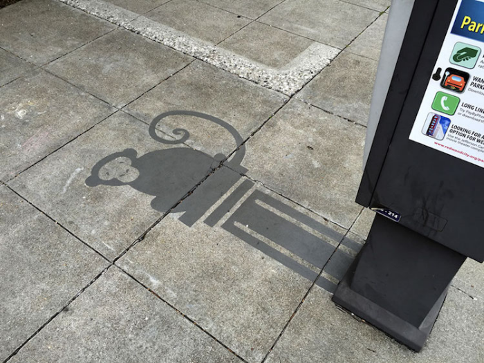 monkey shadow art damon belanger
