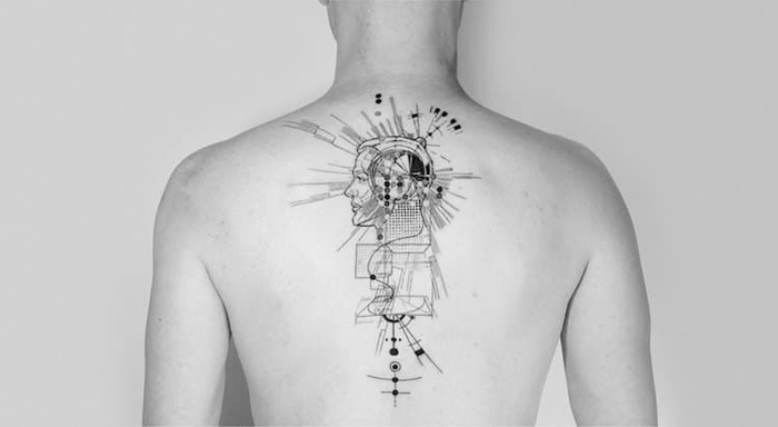 mowgli beautiful abstract tattoos design