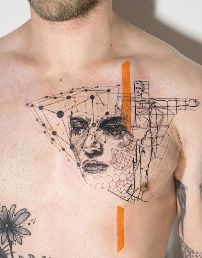 mowgli beautiful abstract tattoos geometric symbols