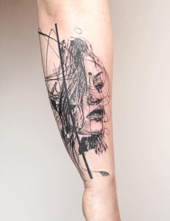 mowgli beautiful abstract tattoos through my third eye studio