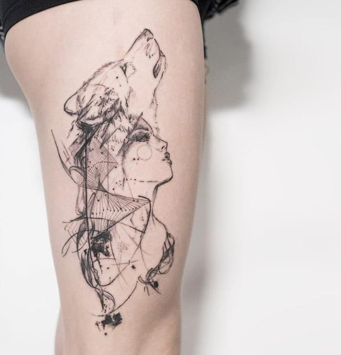 mowgli beautiful abstract tattoos