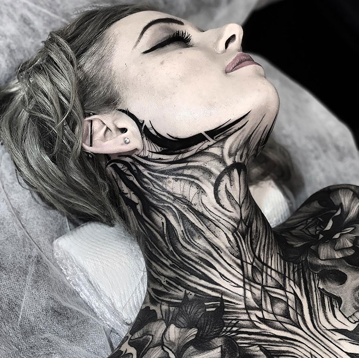 neck tattoo designs full body