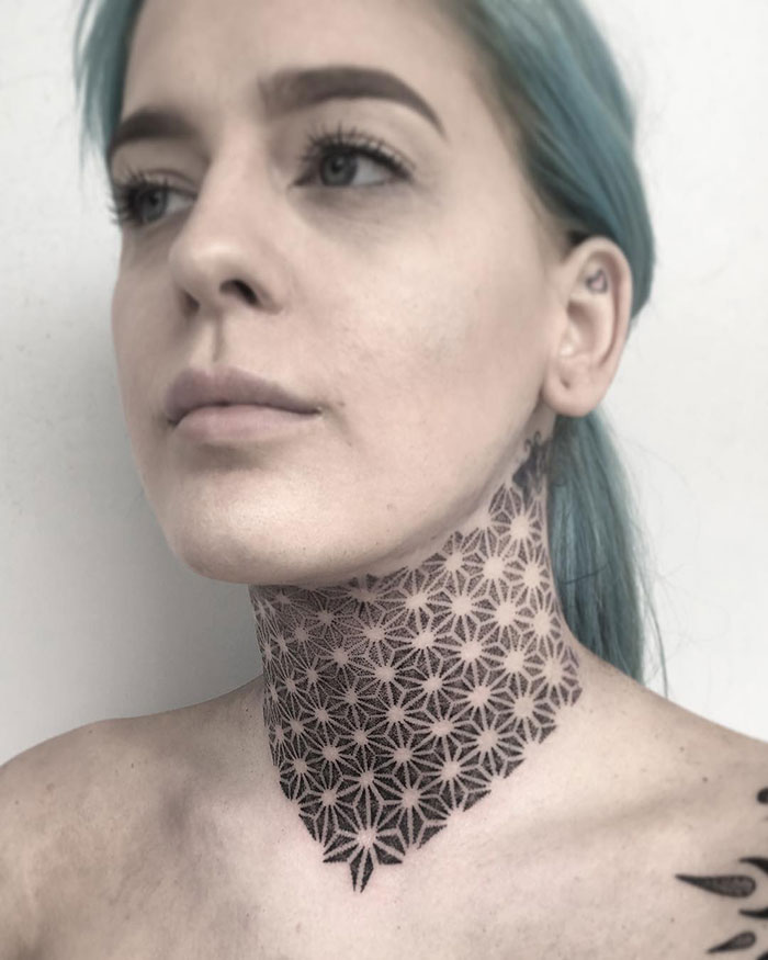 neck tattoo designs ornamental