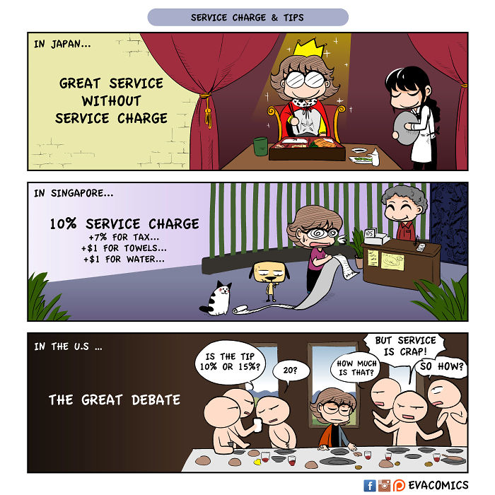 no service charge comics japan cultural differences by evacomics