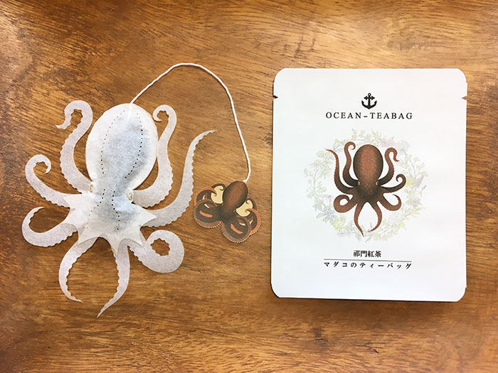 octopus sample ocean teabags japan