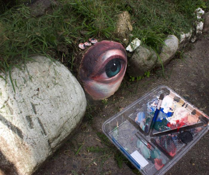painted rocks eye