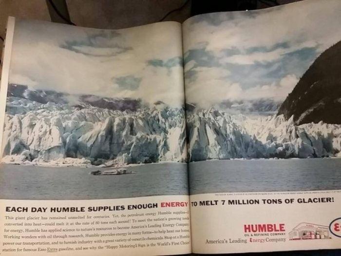 past advertisements humble melts glaciers