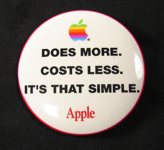 past posts apple costs less