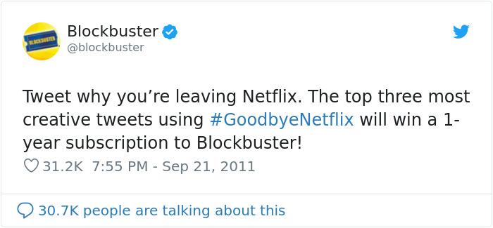 past posts blockbuster vs netflix